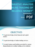 Comparative Analysis of Online Trading of Reliance