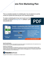 Public relations firm marketing plan
