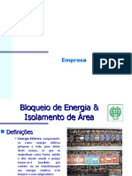 Bloqueio de Energia e Isolamento de área