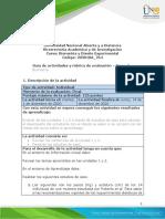 Guia de actividades y rúbrica de evaluación - Tarea 5 - Actividad final POA