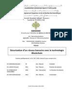 Etude et la conception d'un réseau bancaire sécurisé avec la technologie Blockchain.pdf