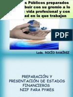 PREPARACION Y PRESENTACION DE ESTADOS FINANCIEROS BAJO NIIF - ROCIO RAMIREZ 15-10-2011