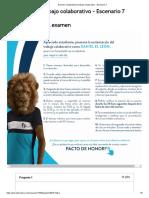 Examen_ Sustentacion trabajo colaborativo - Escenario 7