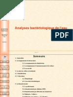 Analyses microbiologique de l'eau