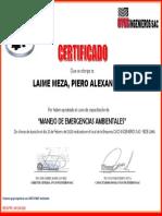 MANEJO  DE EMERGENCIAS AMBIENTALES