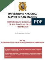 10.- Memorandum de Planeamiento - Aud. EE.FF