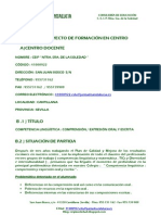 PROYECTO DE FORMACIÓN EN CENTRO
