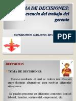 TOMA DE DECISIONES 2016 -GESTION DE OPERACIONES