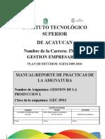 MANUAL DE PRACTICAS DE GESTION DE LA PRODUCCION 1