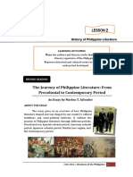 1_CHAPTER II_LESSON 2_HISTORY OF PHILIPPINE LITERATURE