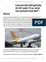 Are commercial aircraft still typically equipped with HF radio? If so, what do the antenna systems look like? - Quora