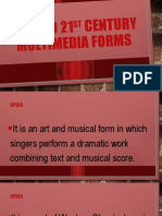 20TH AND 21ST CENTURY MULTIMEDIA FORMS