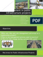 Risk assessment in public infrastructure projects