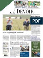 Le Devoir du 19 juillet 2014