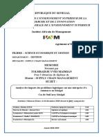 Analyse des impacts des problèmes logistiques sur une entreprise d'e-commerce au Sénégal cas de OuiCarry Sénégal