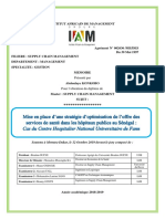 Mise en place d'une stratégie de l'offre des services de santé dans les hôpitaux publics au Sénégal cas du Centre Hospitalier  National Universitaire de Fann