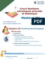 Chapitre III Systèmes mécanique articulés et Robotique_Transformations homogènes_Boutaani 2020.pdf