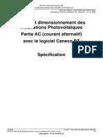 Calcul et dimensionnement des Installations Photovoltaïques Partie AC (courant alternatif) avec le logiciel Caneco BT