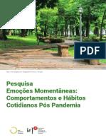 Emocoes momentaneas comportamentos e hábitos cotidianos Pós Pandemia