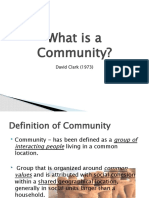 What is a Community David Clark