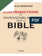 Contradictions Invraisemblances Bible