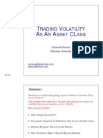 Trading Volatility as an Asset Class Emmanuel Derman