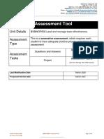 BSBWOR502 Student Assessment Tool - V2.0 MAR 2020