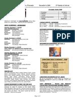 Bulletin 12-6-20