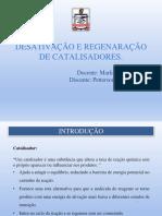 Apresentação Desativação de Catalisadores - Reatores II