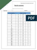 TABLA DE RESPUESTAS