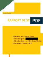 Rapport de Stage Medcine s5