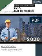 BROCHURE - PROGRAMA DE FORMACIÓN DE ESPECIALISTAS EN SANEAMIENTO FÍSICO LEGAL DE PREDIOS