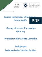 Direccion ip y tipos
