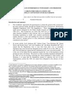 LAWSUIT -Francis Hoar, Coronavirus Article on ECHR