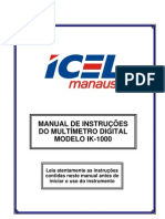 Manual Multímetro Icel IK1000