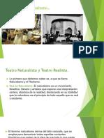 Teatro Naturalista y Teatro Realista