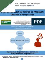 COMITÊ DE ÉTICA - SLIDES PROF. MARCOS FERREIRA UFES