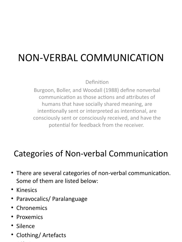 Non Verbal Communication Nonverbal Communication Communication Sundial chronemics is the study of the use of time in nonverbal communication. scribd