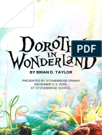 """Dorothy in Wonderland"" Playbill"