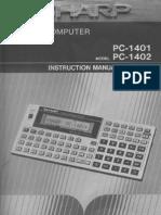sharp pc-1401 manual
