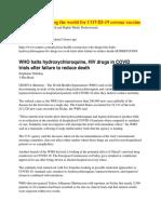 COVID-19 Corona Virus Vaccine - WHO is misleading the world (2020, White Supremacy)