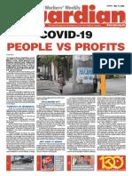 COVID-19 PEOPLE VS PROFITS