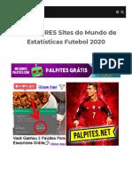 MELHORES Sites Do Mundo de Estatísticas Futebol (site de estatísticas de futebol escanteios))