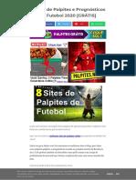 Sites de Palpites e TIPS de Futebol (prognosticos futebol certos para hoje)