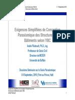 03 - Exigences Simplifiées de Conception Parasismique_Filiatrault