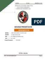 PROYECTO CIV-248 RENDIMIENTOS