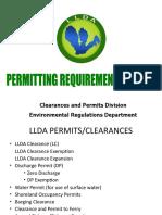 LLDA Permitting