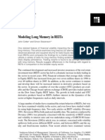 .Paper_Modeling Long Memory in REITs