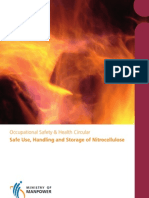 Safe Use Handling and Storage of Nitrocellulose
