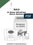 Response House Alarm  SA3 manual
